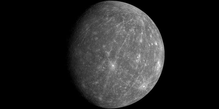 Mercur – partea luminată de soare este extrem de încinsă (427⁰C – când e cel mai cald).
