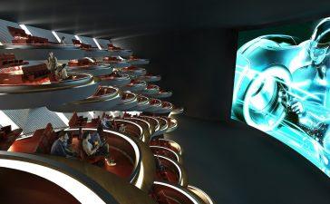 Noul cinematograf din Paris, realizat special pentru distanțarea socială, arată ca Senatul Galactic din seria Star Wars